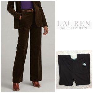 Ralph Lauren Straight Leg Brown Wool Pants Size 8